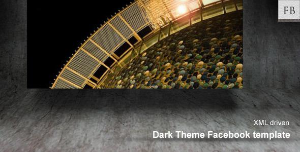 ActiveDen Dark Facebook Theme template 301616