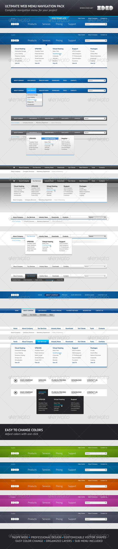 Graphic River Ultimate Web Menu Navigation Pack Web Elements -  Navigation Bars 577418