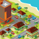 Isometric Hotel Near Beach - GraphicRiver Item for Sale