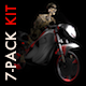 Funny Skeleton - Crazy Biker - Pack of 7 - VideoHive Item for Sale