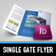 Metro Single Gate Fold Flyer - GraphicRiver Item for Sale