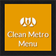 Clean Metro Menu - CodeCanyon Item for Sale