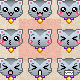 75 Pixel Cat Emoticons - GraphicRiver Item for Sale