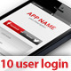 10 Application User Login  - GraphicRiver Item for Sale
