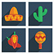 Mexican Icon Set - GraphicRiver Item for Sale