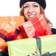 Smiling woman with many presents - PhotoDune Item for Sale