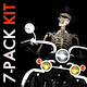 Funny Skeleton - Crazy Biker II - Pack of 7 - VideoHive Item for Sale