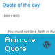 Responsive Animate Quote Rotator WordPress Plugin - CodeCanyon Item for Sale