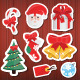 Vector Christmas Stickers Icons Set - GraphicRiver Item for Sale