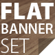 Flat Banner Set - GraphicRiver Item for Sale
