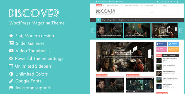 Theme de WordPress Estilo Flat: Discover
