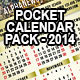 Pocket Calendar 2014 - Pack of 6 Designs - GraphicRiver Item for Sale