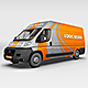 Courier Van Mock Up - GraphicRiver Item for Sale