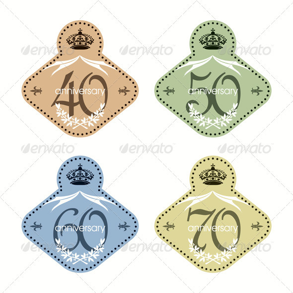 Graphic River Vintage Jubilee Wine Labels Set Vectors -  Conceptual  Seasons/Holidays 590042