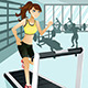 Woman Exercising at Gym - GraphicRiver Item for Sale