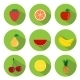 Fruits Flat Icons - GraphicRiver Item for Sale