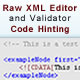 Raw XML Editor with Hinting and Validation - ActiveDen Item for Sale