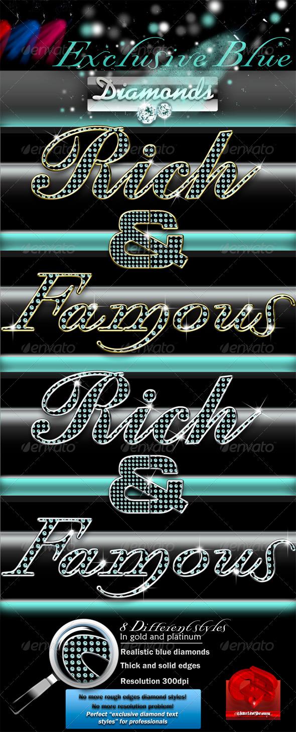 GraphicRiver Exclusive Blue Diamonds Text Styles 592858