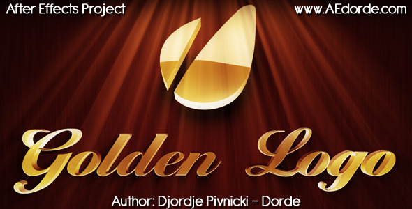 After Effects Project - VideoHive Golden Logo 593309