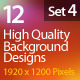 Web Background Design 1920x1200 (Set 4) - GraphicRiver Item for Sale