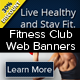 Fitness Club Web Banners - GraphicRiver Item for Sale
