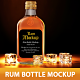 Rum Bottle Mockup - GraphicRiver Item for Sale