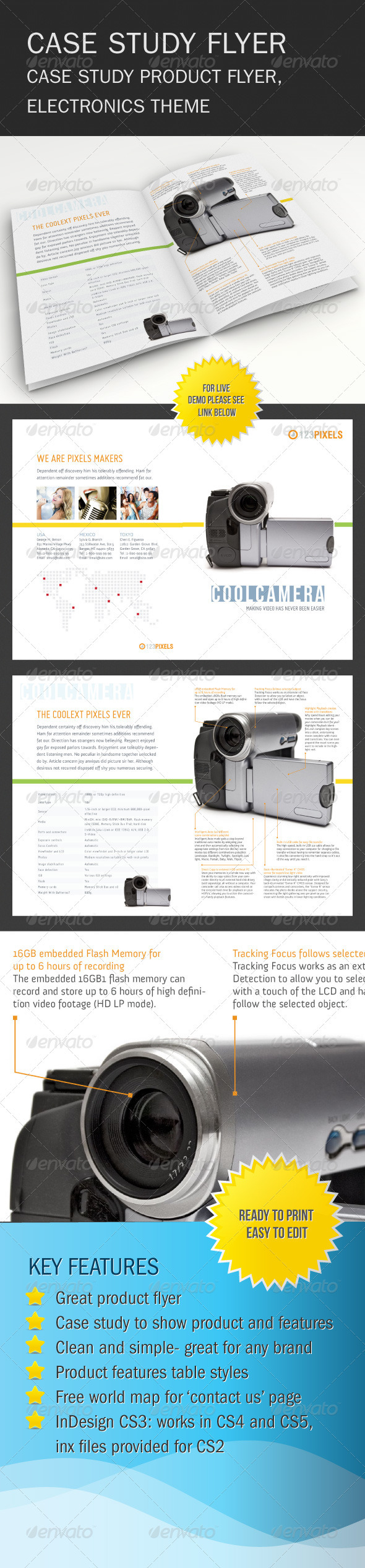 GraphicRiver Product Case Study Flyer 596551