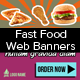 Fast Food Web Banners - GraphicRiver Item for Sale