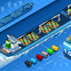 Isometric Cargo Ship with Containers in Rear View - GraphicRiver Item for Sale