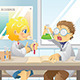 Students in Science Project - GraphicRiver Item for Sale