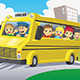 Kids in School Bus - GraphicRiver Item for Sale