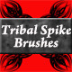 Tribal Spike Brushes - GraphicRiver Item for Sale