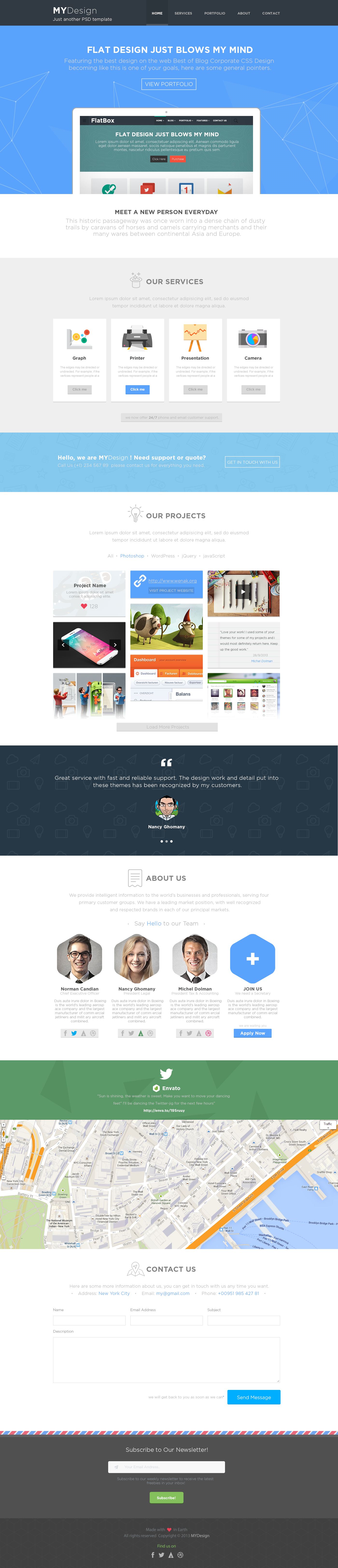 MYDesign - Onepage Multipurpose Flat HTML Template - 3
