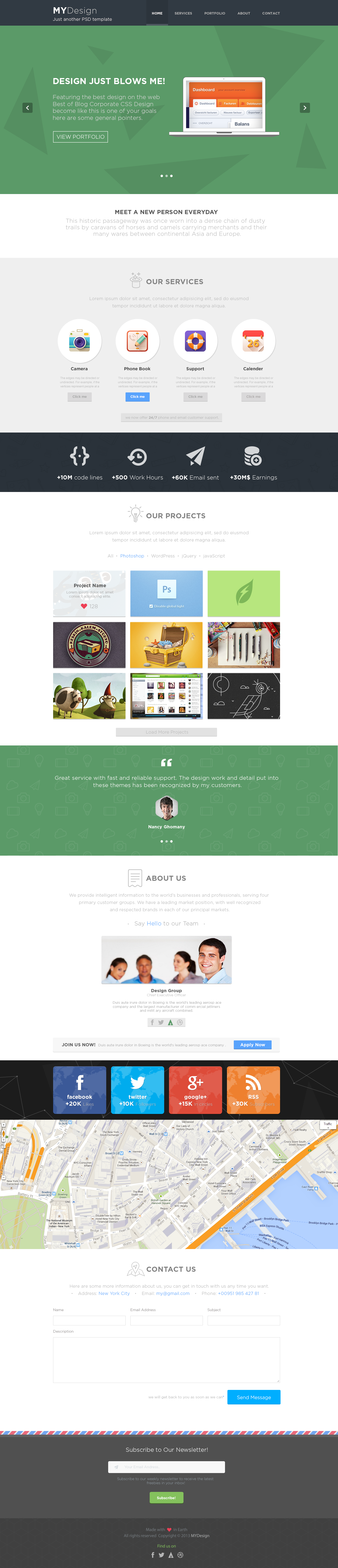 MYDesign - Onepage Multipurpose Flat HTML Template - 4