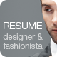 Resume/CV | Fashion & Design  - GraphicRiver Item for Sale
