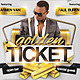 Golden Ticket Party Flyer - GraphicRiver Item for Sale