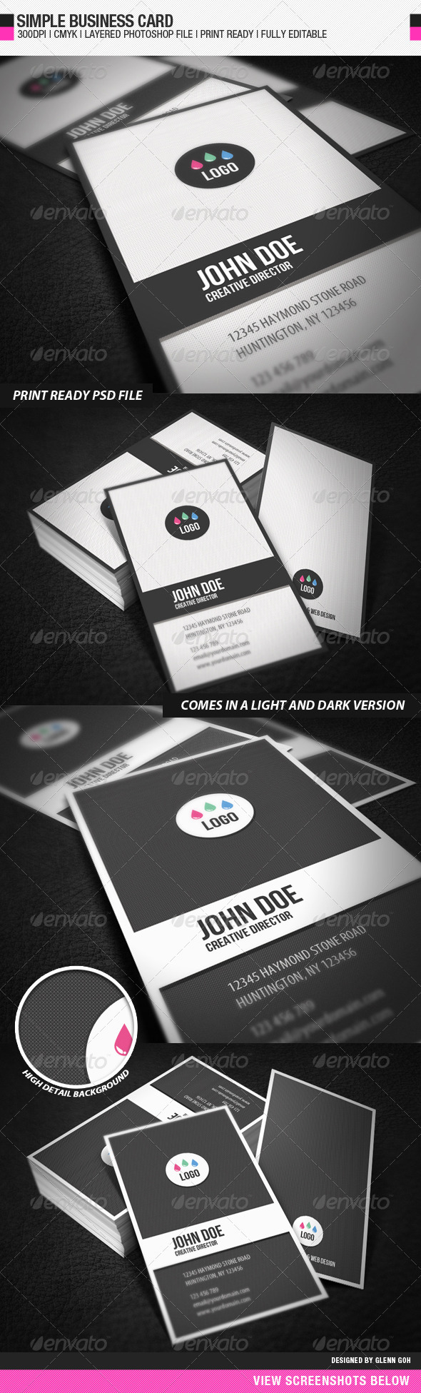 GraphicRiver Simple Business Card 603580