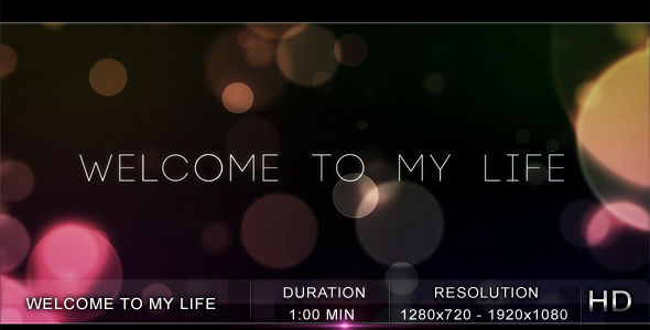 After Effects Project - VideoHive Welcome to My Life 411140