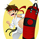 Practicing Karate - GraphicRiver Item for Sale