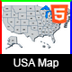 Responsive USA Map - HTML5 - CodeCanyon Item for Sale