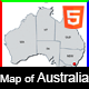 Responsive Map of Australia - HTML5 - CodeCanyon Item for Sale