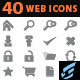 40 Web Icons - GraphicRiver Item for Sale