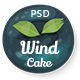 Wind Cake – One Page PSD Template - ThemeForest Item for Sale
