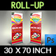 Cake Signage Roll Up Banner Template Vol.3 - GraphicRiver Item for Sale