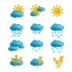 Weather Icons Set - GraphicRiver Item for Sale