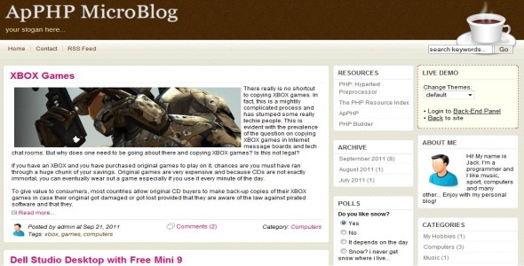 CodeCanyon Multi-Author blog platform 610381