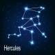 The Constellation Hercules in Night Sky - GraphicRiver Item for Sale