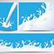 Milk Splashes Background Vector Set - GraphicRiver Item for Sale