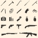 vector weapon icons - GraphicRiver Item for Sale