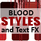 7 Sizable Blood Styles & PSD Text Effects - GraphicRiver Item for Sale